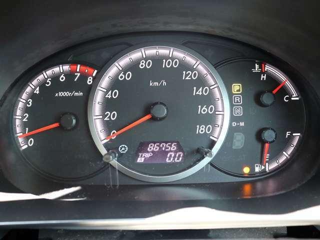 【メーター】現在の走行距離86,756kmでございます。
