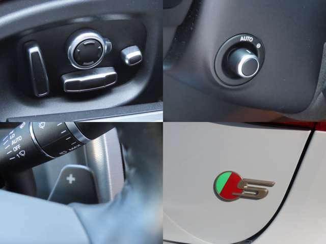 ・14×14way電動調整式スポーツレザーシート ・電動調整ステアリングコラム ・ステアリングパドルシフト