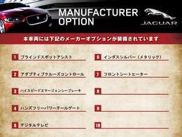 こちらの車輛には表記のメーカーオプションが装備・装着されております。仕様・装備詳細についての確認は、お気軽にお問い合わせください。