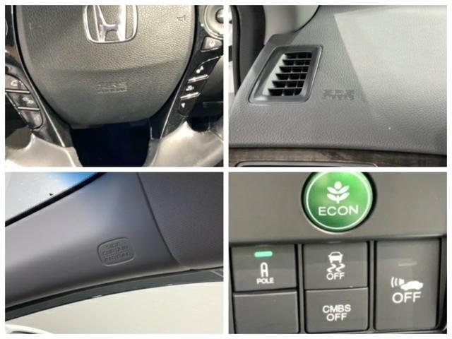 運転席、助手席エアバックはもちろんの事、カーテンエアバックや横滑り防止機能も装備しています。