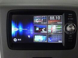 ワンセグTVやマイクロSDによる音楽再生などに対応した ナビを装備しています。