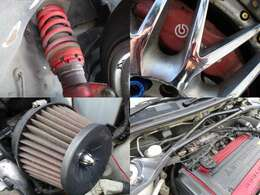 車高調 ブレンボキャリパー エアクリ タワーバー装備