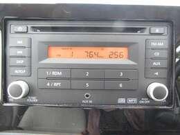 純正オーディオでCD・ラジオ再生やAUX接続など可能です♪
