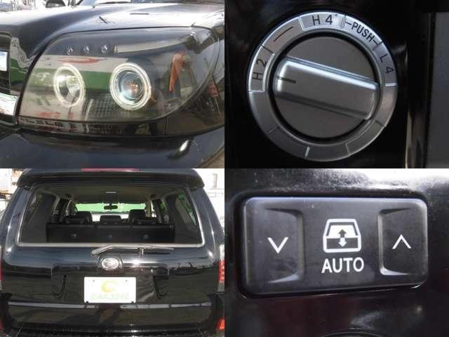 社外ヘッドライト イカリング 2WDから4WD切替可能 リアパワーウインドウ