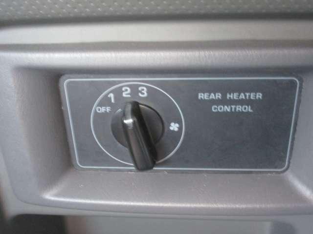 リアヒーター・クーラー装備なので、後席の方も快適♪