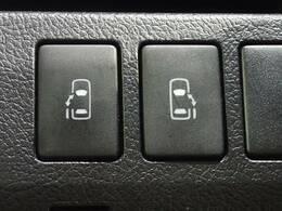 両側電動スライドドア搭載しています。ボタン一つで開閉可能な装備で、お子様や女性の方でも楽々操作可能です。