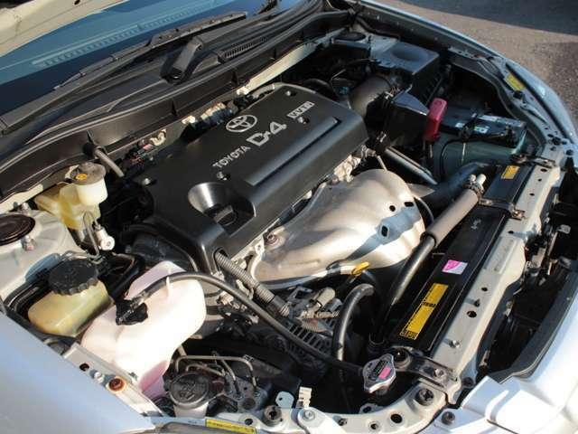 レギュラーガソリン仕様の152馬力(カタログ値)1AZエンジン 試乗チェックでも快調でした。EGオイルとフィルターは交換して納車となります。タイミングチェーンで10万kmでも交換不要で経済的!