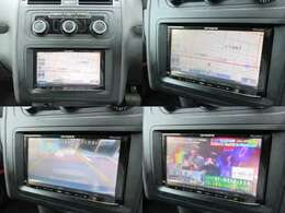 社外ナビが装備されております♪画面もクリアで運転中も確認しやすいです♪テレビの視聴もお楽しみ頂けます♪また安心のバックカメラも装備されているので車庫入れも楽々です♪