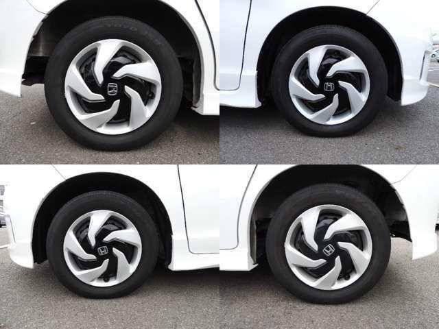 ホンダ純正のタイヤでございます。見栄えが良く足元が引き立つので、車全体のイメージがアップします!