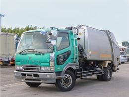 三菱ふそう ファイター 増トン 8.5立米 プレス式パッカー車 ベッド付き 塵芥車 計量器付き 連続作動