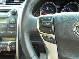 ☆★ステアリングリモコン☆★ハンドルのスイッチで運転をしながら音楽の音量なども変更できて便利です