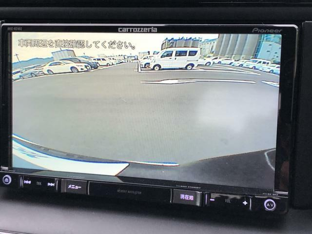 車庫入れや縦列駐車に威力を発揮するバックモニターを装備!!夜間でも見やすい画像で安全性も高まる便利な装備です!!一度使うと手放せません!!