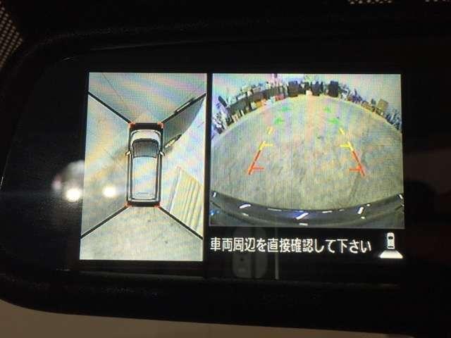 【バックカメラ】運転席から画面上で安全確認ができます。駐車が苦手な方にもオススメな便利機能です。【全周囲カメラ】360度見渡すことができ、狭い道や駐車するときにも安心ですね♪