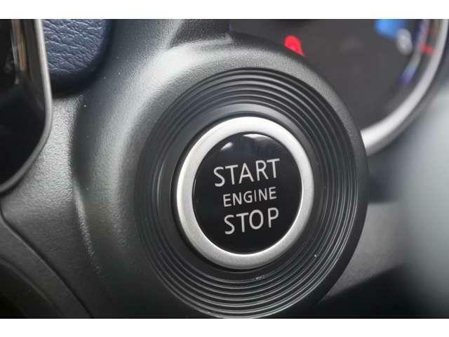 プッシュエンジンスターターなので簡単に操作できます!