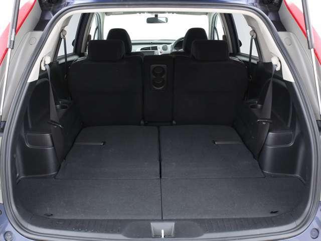 サードシートを畳めば十分な広さのラゲッジスペースになります!