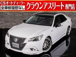 トヨタ クラウンアスリート ハイブリッド 2.5 S 新品黒革/HKS車高調/20インチAW/カスタム