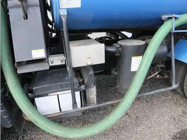 バキュームカー(モリタVBR427)/タンク容積2700L/電動ホースリール/ETC/左電格ミラー