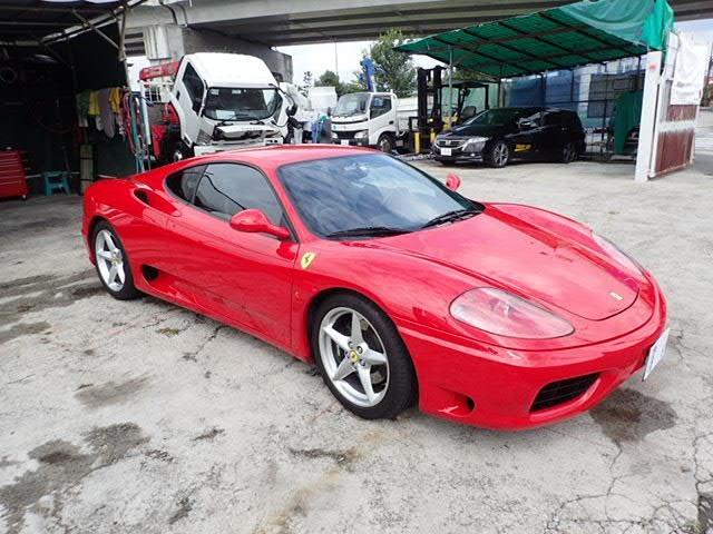 【1689】H12(2000年) フェラーリ(Ferrari) 360 モデナ(modena) 6F/MT マニュアル車 並行輸入 走行4.2万km 車検整備付R3.11.20  クーペ 中古販売
