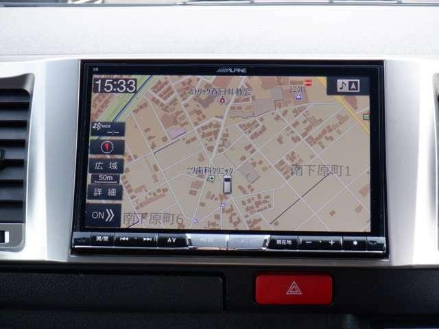 ワンオーナー/ALPINE BIG X 8インチSDナビTV/Bluetooth/DVD再生/ETC/AC100V電源/新品シートカバー/新品ベッドキット/スマートキー/ステアリングリモコン