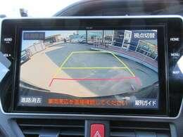 純正10型SDナビ付き♪ 大画面のガイド線付バックカメラで駐車も安心ですね♪