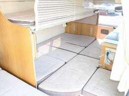 リア2段ベッドです!下段は補助マットと組み合わせると190cm×130cmです!
