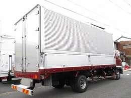 トランテックス アルミウイングHFDLB-MAAAQH ワイドロング 荷台床高121センチ 荷室 長さ629x幅240x高さ241センチ ラッシングレール 床フック5対 内外装キレイです