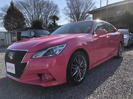 トヨタ クラウンアスリート ハイブリッド 2.5 G リボーン ピンク 白革・カードキー・レーダークルーズ