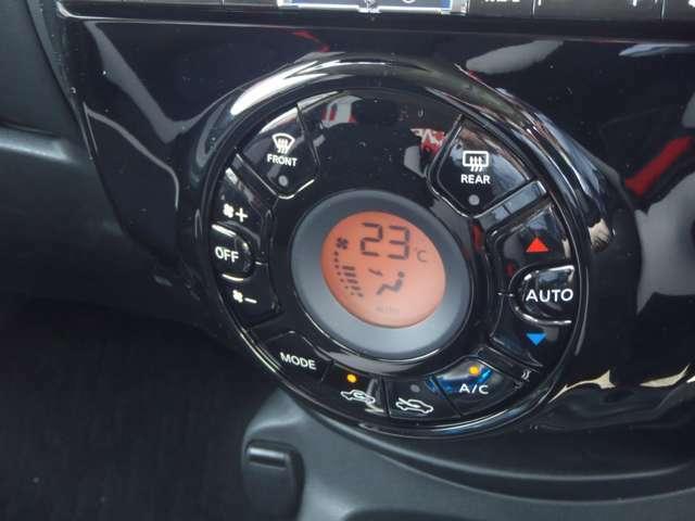オートエアコンなので温度設定をしておけば後は自動で風量調節してくれます 操作もワンタッチでOKです