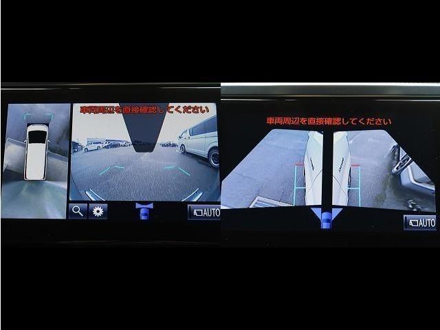 アラウンドビューで車庫入れがより安全に!全身の時も低速なら左右の確認に使えます!