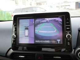 純正9インチナビMM318D-L アラウンドビューモニターで駐車時の周囲確認もお手伝いします