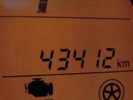走行距離43412kn!