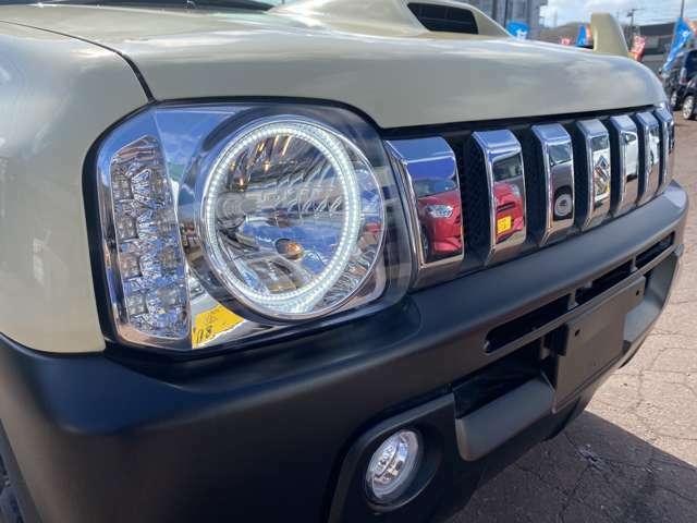 社外LEDイカリングヘッドライト