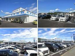 大きなNマークの看板が目印!広々とした駐車場をご用意してお待ちしております。展示場には200台のバリエーション豊かな在庫をご用意。メーカー問わず比較していただけます。