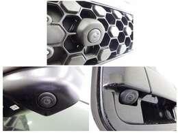 前後左右4つのカメラを装備!対応のナビを取り付けしていただくと、ナビ画面で映像の確認ができ 駐車をサポートします。