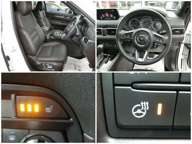 【寒い時期に快適】 運転席にはシートヒーター ステアリングにもヒーターが内蔵され充実の防寒対策です