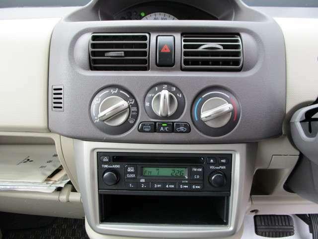 CD・FMラジオを完備しております。エアコンも完備しておりますので、季節に関係なく快適な仕事環境をバックアップします!!