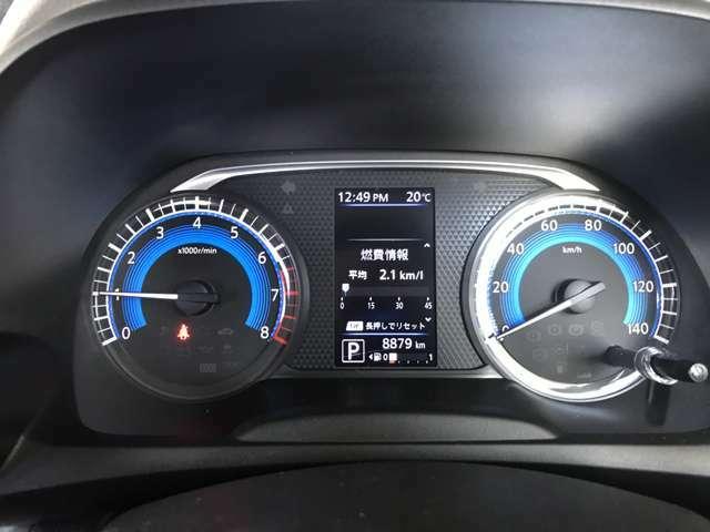 分かりやすくシンプルなスピードメーターとなっております!