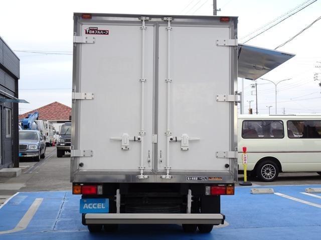 日本フルハーフ保冷車 型式:GAC7 リア観音開き 左サイドスライドドア 右跳ね上げ扉 外カウンターテーブル