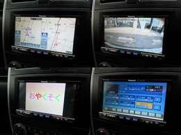 社外HDDナビが装備されております♪画面もクリアで運転中も確認しやすいです♪フルセグTVとDVDの視聴もお楽しみ頂けます♪安心安全のカラーバックカメラも装備されています♪
