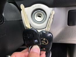 【リモコンキー】キーを鍵穴に挿し込むことなく、リモコンのボタンで鍵の開閉ができます!