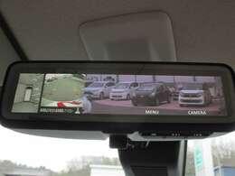 上からの視点で駐車をサポート。マルチアラウンドモニター。通常時はデジタルルームミラーとなります(普通の鏡に切り替えることも可能)