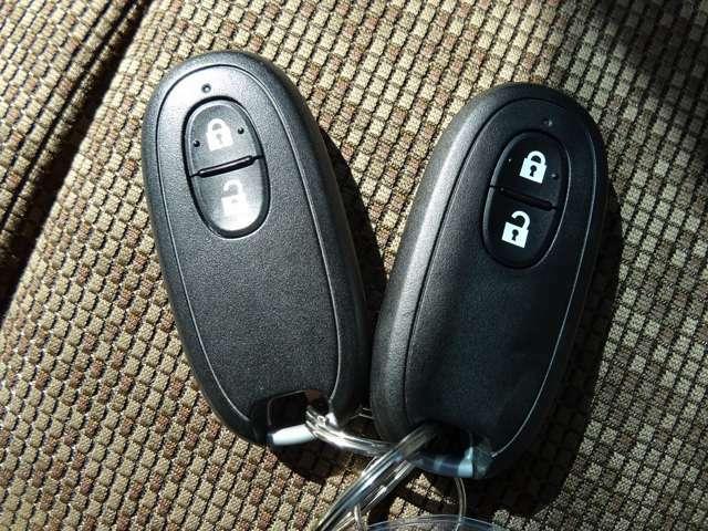 インテリジェントキーは鍵を出さなくてもいいので何かと便利ですよ♪