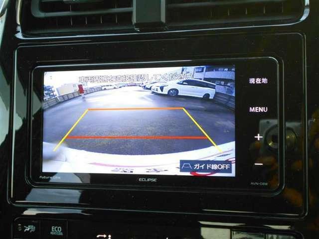 バックモニター付きですので、日常の駐車はもちろん、人や障害物のなど後方が映像で確認出来るので安心です!補助装置になりますので、目視でもご確認ください。