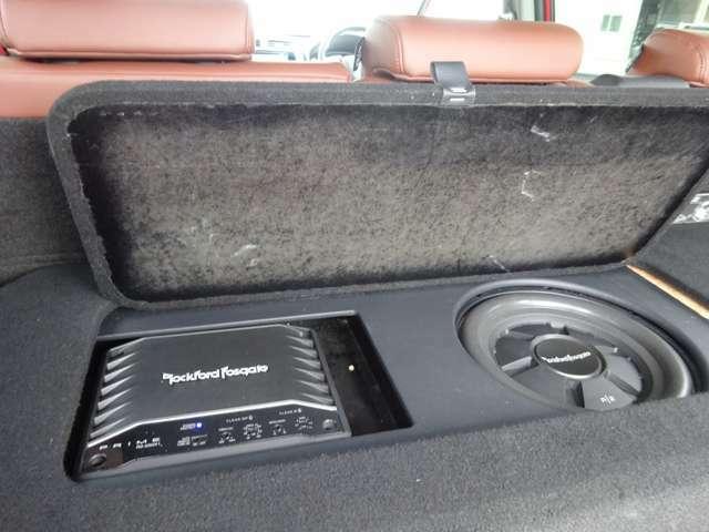 ロックフォードスピーカー搭載!こだわりの音質ですが、社外品の為、保証対象外となります。ご了承ください。