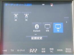 CD/DVDの再生やTV視聴、Bluetoothオーディオ機能を搭載♪