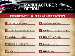 こちらの車輌には表記のメーカーオプションが装備・装着されております。