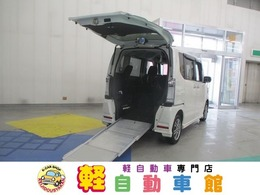 ホンダ N-BOX+ 660 カスタムG 車いす仕様車 4WD スローパー 福祉車両 ナビTV ABS
