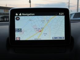 『マツダコネクト』ナビゲーション機能はもちろん、最新の情報をアップデートしながら使用可能。