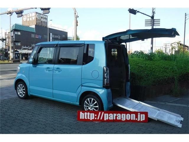 福祉車両車いす仕様車ホンダN-BOX+Gスローパーリアシート付き4人乗り!鮮やかなブルーカラー!