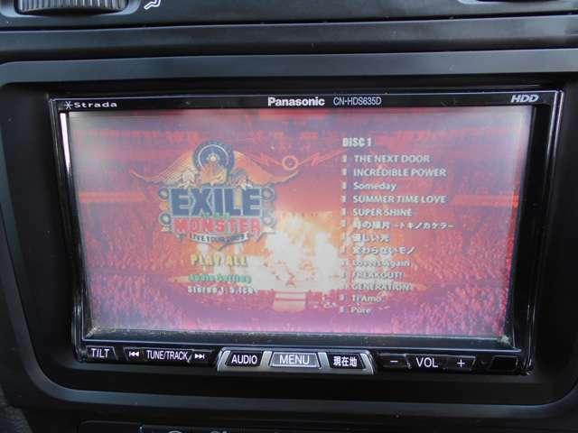 音楽録音機能付きのミュージックサーバーと、DVDの視聴もできます!映画やライブDVDを視聴すれば、臨場感あふれるサウンドを楽しめます!オープンにして、お好きなライブDVDを聞きながらドライブは至福のひと時です